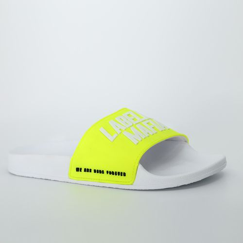Slide Branco e Amarelo