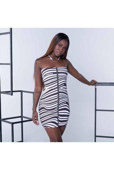 Vestido Black&Bold Off White