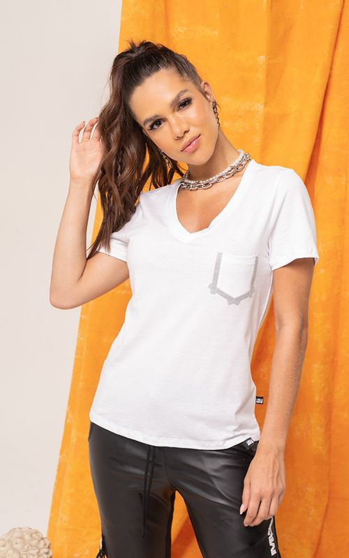 Camiseta Hollywood Branca