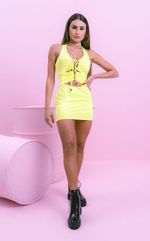 Vestido Shock Amarelo