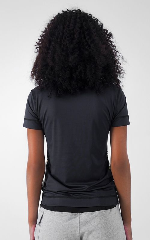 T-shirt Collab A La Garçonne Preta/Branca