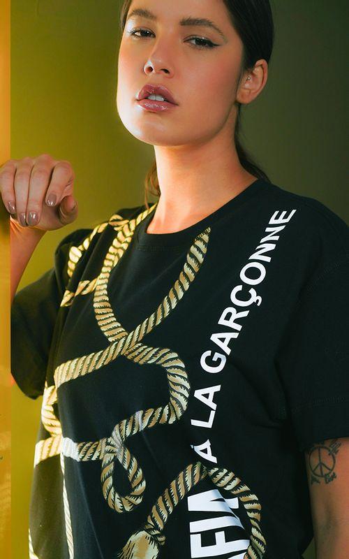 Camiseta Collab A La Garçonne Branca