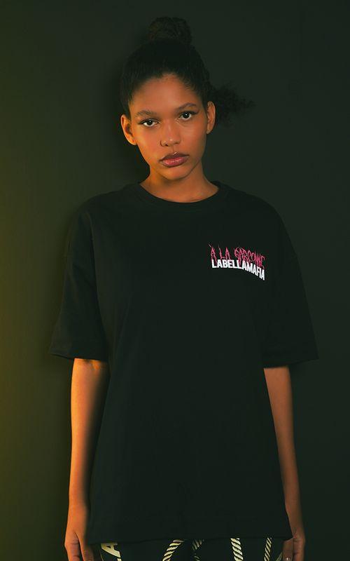 Camiseta Collab A La Garçonne Preta