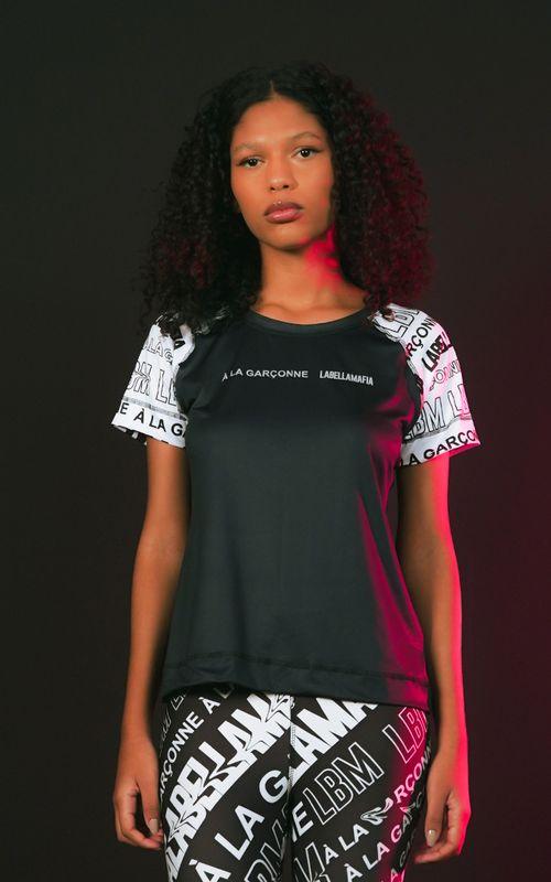 T-shirt Collab A La Garçonne Estampada