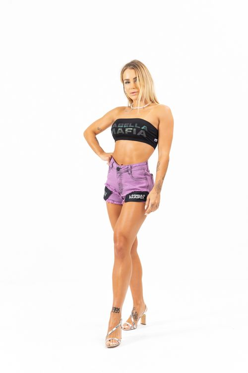Short Purple Disco Roxo