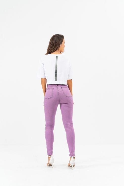 Cropped Purple Disco Branco