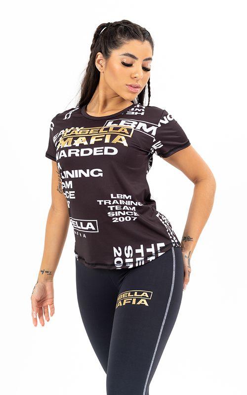 Camiseta Black And Gold Preta