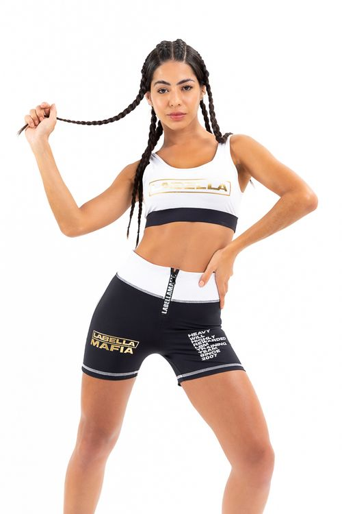 Top Black And Gold Branco